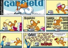 Garfield Cartoon for Jan/25/2015......Butter expires at midnight...ha ha ha...