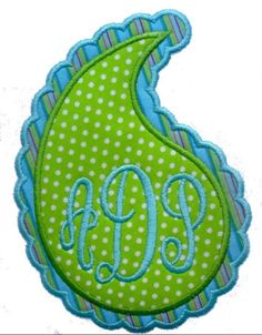 Paisley Patch Applique