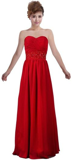 ANTS Women's Sweetheart Bridesmaid Dresses Long Wedding Party Dress Simple ** Special  product just for you. See it now! : Bridesmaid Dresses