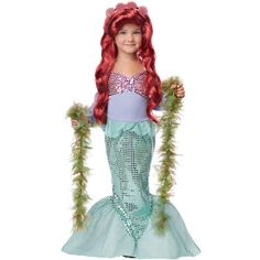 California Costumes Little Mermaid Toddler Costume, Medium : Target...