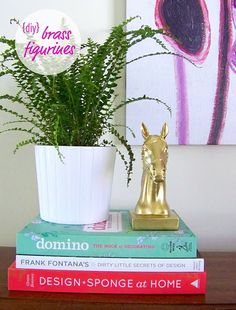 DIY animal bookends, just incase you have a spirit animal ;)