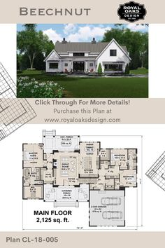 Open Concept House Plans, House Layout Plans, House Plans One Story, Country House Plans, New House Plans, Dream House Plans, Narrow House Plans, House Plans Mansion, Family House Plans