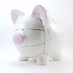 #Volleyball Personalized Ceramic #PiggyBank  by #ThePigPen, $45.50