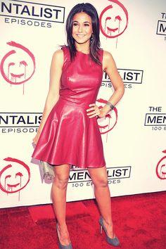 Emmanuelle Chriqui attends The Mentalist 100th Episode Celebration