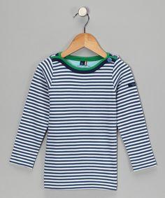 Blue Stripe Breton Organic Tee - Toddler & Boys