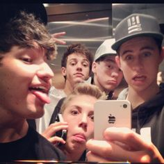 3/5 of my favorite Vine guys (Nash Grier, Matthew Espinosa, Cameron Dallas) and others