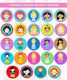 Disney Princess Cupcake Toppers Princess Cupcake topper