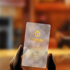 Gold Foil on your plastic #BusinessCard from @inkgility