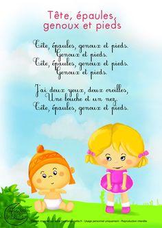 Learn French the Easy Way Camp Songs, Kids Songs, Micro Creche, French Poems, Body Preschool, French Nursery, Montessori, French Classroom, French Lessons