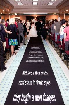 Scrolling Star Wars fabric NON-SLIP Runner by I Do! As seen in Bridal Guide Magazine. For cassies Star Wars Wedding, Geek Wedding, Star Wars Party, Our Wedding, Dream Wedding, Perfect Wedding, Wedding Ceremony, Wedding Stuff, Wedding Rings