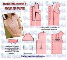 Blog de patronaje y diseño - #bllusademujer #mujer #blusa #Blouse