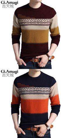 Chompas Para Hombre Winter New Long-sleeved Sweater Wild Trend Round Collar  Mink Cashmere Sweater Sueter Masculino Tricotado d860eccd7a