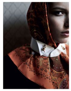 Silk Scarf as seen by #Interview Russia May 2012