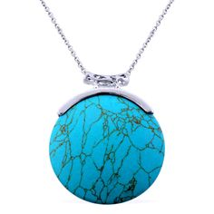 Blue Howlite Pendant With Stainless Steel Chain (20 in) TGW 5...  http://stores.ebay.com/JEWELRY-AND-GIFTS-BY-ALICE-AND-ANN
