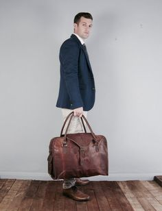 The Vagabond (three month waiting list) Vintage style brown leather holdall duffle weekend bag carry on flight luggage unisex mens Luggage Bags, Travel Luggage, Personalized Luggage Tags, House Of Lashes, Kids Logo, Cow Leather, Vintage Fashion, Vintage Style, Vintage Children