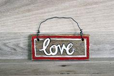 Love Wood Door Hanger, Mini Wood Sign, Wedding Sign, Wedding Gift, Gift #love #lovesign #lovewoodsign #gift #wedding