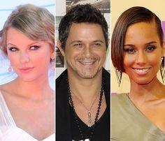 Taylor Swift, Alicia Keys y Alejandro Sanz estarán en la entrega de los Premios 40 Principales #cantantes #música #people #celebrities #singers