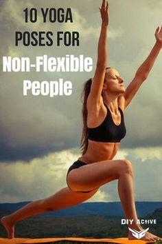 10 Yoga Poses for Non-Flexible People via @DIYActiveHQ #yoga #DIYyoga #health #fitness #workout