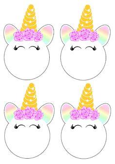Círculos multiuso. Unicornio Unicorn Themed Birthday Party, Rainbow Birthday, Unicorn Birthday Parties, Diy Birthday, Birthday Party Themes, Unicorn Invitations, Birthday Invitations, Unicorn Banner, Unicorn Printables