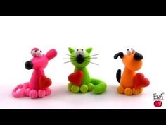 LET'S CLAY. How to make polymer clay PETS easily. - YouTube