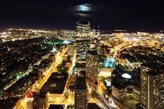 night time,city lights