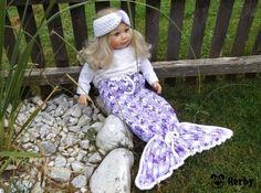 Süße #Meerjungfrauendecke für kleine Mädchen! #Häkelanleitung unter: https://www.crazypatterns.net/de/shop/herbys-trendartikel