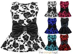 LADIES WET LOOK FLOWER PRINT BOW BELT FRONT FRILL PEPLUM SKATER DRESS TOP 8-18 in Clothes, Shoes & Accessories, Women's Clothing, Tops & Shirts | eBay