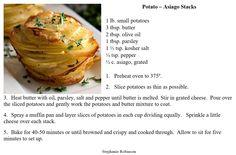 Potato Asiago Stack - Quite a tasty side dish!
