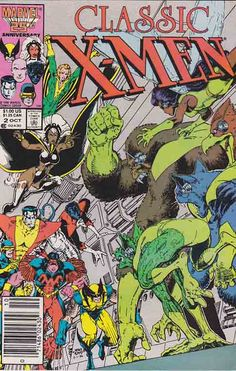 Classic X-Men #2 /  Arthur Adams Cover Art / Professor X gathers the large team together in the school. He wants to congratulate them on their last battle as well as talk to them about the future.