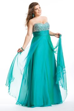 Blue Floor Length Ball Gown Sweetheart Plus Size Dresses With Beads Bandage  - www.promdressonsale.co.uk