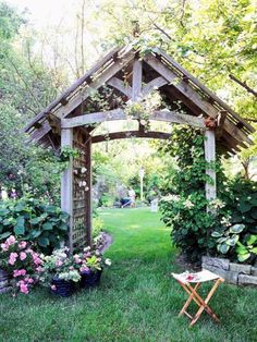 Distinctive Outdoor Structures is part of Garden arches Spend time outdoors in your own backyard paradise with an outdoor structure - Garden Archway, Garden Entrance, Garden Gates, Garden Arbor With Gate, Main Entrance, Outdoor Projects, Garden Projects, Landscape Design, Garden Design