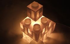 Lampe Lego par Tzuwei Tai  photo