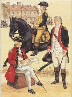 Germantown 6th  October 1777 L to R Sir William Howe, John Sullivan and Henry Knox