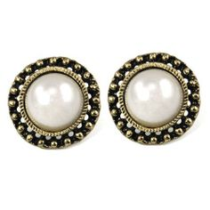 Bohemian Vintage Large Faux Pearl Stud Earrings White Sun Flower Art Deco World Pride. $4.09. Bohemian style pearl hollow carving. Simple and elegant, don't miss them. Decoration size: 2.3cm diameter. Great gifts for ladies and girls
