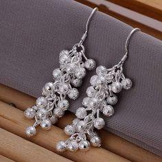 Sterling Silver Multi Ball Dangle Earrings – JaeBee Jewelry