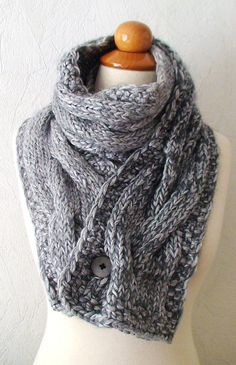 I love the idea of adding a button to keep the ends together on a scarf