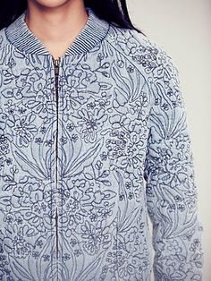 Doddle Stitch Quilted Bomber