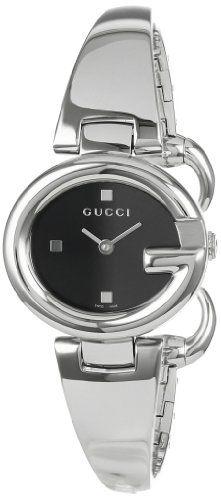 d8797abc8c6 Gucci Women s YA134501 Guccissima Fashion Bangle Black Dial Watch Gucci