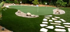 Synthetic & Artificial Putting Greens & Turf In Anaheim CA Artificial Putting Green, Best Artificial Grass, Backyard Putting Green, Green Ideas, Orange County, Golf Courses, Landscaping, Coastal, Eco Friendly