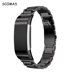 SCOMAS Stainless Steel Bracelet Smart Watch Band Strap For Fitbit Charge 2 replacement Straps for Fitbit 2 fitness bracelets