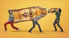 Cerveza Poker by Alberto Mario Suarez Bula, via Behance Gas Monkey, Idea Box, Advertising Design, Whisky, Mario, Dinosaur Stuffed Animal, Behance, Design Inspiration, Ads