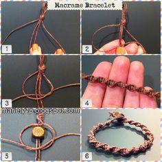 Photo tutorial: macramé bracelet