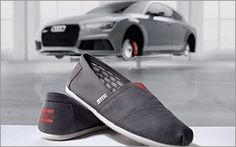 Audi and Toms will donate 55,000 shoes to children in need this summer. As part of the deal, the two brands have designed a limited-edition Alpargata shoe available to Audi buyers during the Summer of Audi Sales Event. Audi says that from June 3 through Aug. 4, customers who purchase or lease a new or certified pre-owned Audi vehicle will receive an offer for a pair of the limited-edition Audi shoes. People in the know will know they are Audi shoes because they feature the trademark four int...