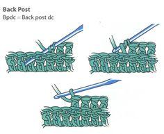 Back Post Stitch ✿╮Teresa Restegui http://www.pinterest.com/teretegui/✿╮