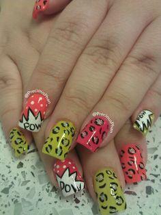 Pow, cheetah nails