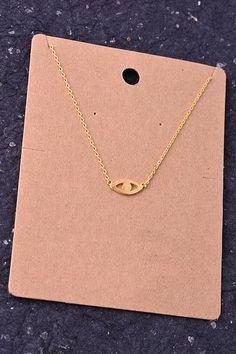 Dainty Gold Evil Eye Pendant Necklace