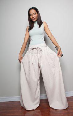 8e74308f38 Wide Leg Pants Cotton Linen Casual Wear   Soul of the Orient Collection
