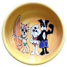 muscles and bitch dog bowl $77
