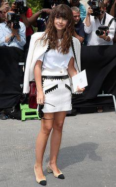 Miroslava Duma attending the Chanel show.