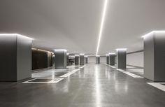 Garage Lighting, Interior Lighting, Lighting Design, Parking Plan, Car Parking, Casa Bunker, Dream Home Design, House Design, Studio Mk27